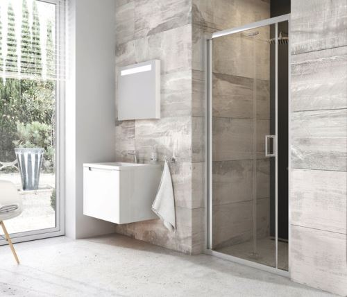 RAVAK Sprchové dveře BLIX BLDZ2 90 Bright Alu+Transparent (X01H70C00Z1)
