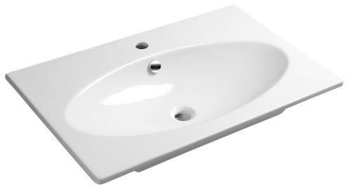 Sapho SISTEMA X keramické umyvadlo 80x51cm, bílá