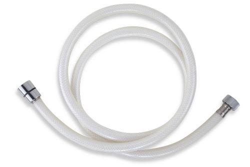 NOVASERVIS Plastová hadice 150 cm bílá-chrom (PVC/155,1)