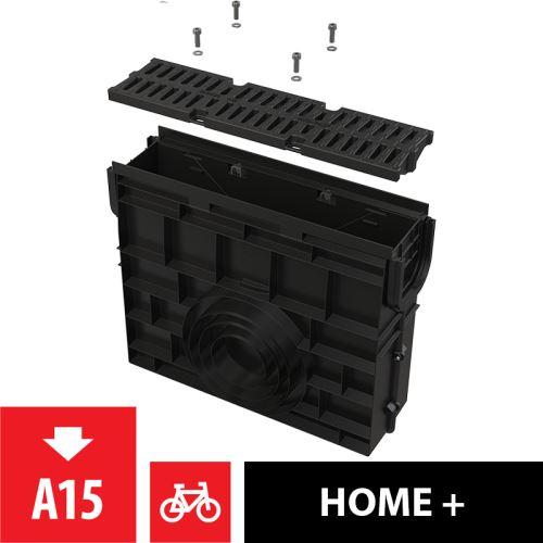 ALCAPLAST Venkovní žlabová vpust pro AVZ104 s plastovým rámem a plastovým roštem A15 (AVZ104R-R401)