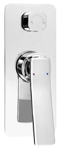 Sapho JUMPER podomítková sprchová baterie, 2 výstupy, chrom