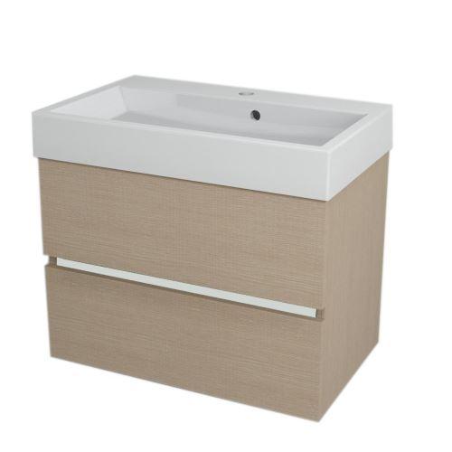Sapho LARGO umyvadlová skříňka 69x50x41cm, dub benátský