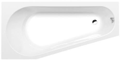 Polysan PROJEKTA L asymetrická vana 160x80x44cm, bílá