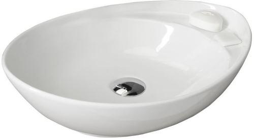 Sapho BEVERLY keramické umyvadlo 56x17x37 cm, na desku, bez přepadu