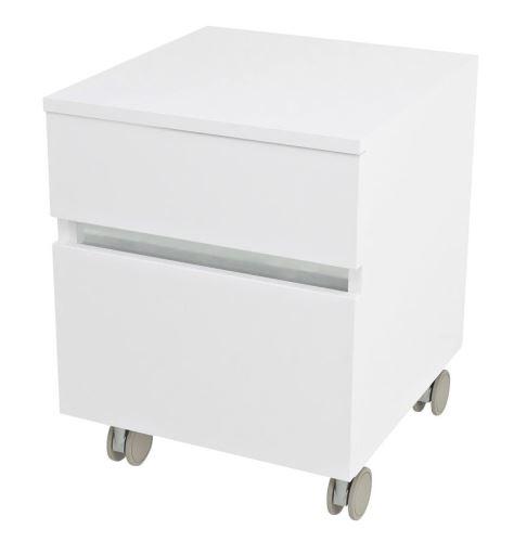 Sapho AVICE kontejner na kolečkách, 2x zásuvka 45x57x48,5cm, bílá
