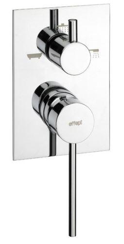 Effepi THOR podomítková sprchová baterie, 3 výstupy, chrom