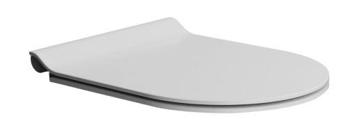 GSI WC sedátko SLIM soft close, duroplast, bílá mat/chrom