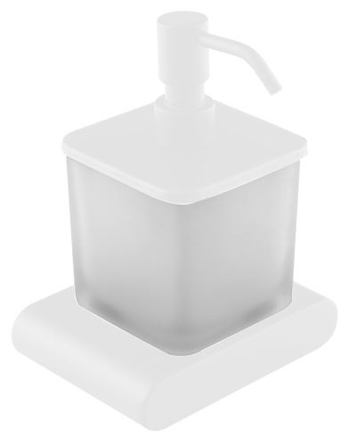 Sapho FLORI dávkovač mýdla, bílá mat/sklo satin