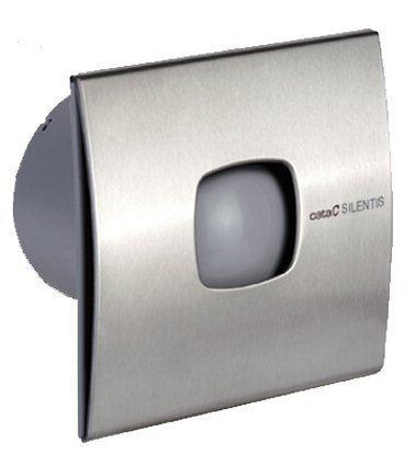 Cata SILENTIS 10 INOX T koupelnový ventilátor axiální s časovačem, 15W, 100mm, nerez