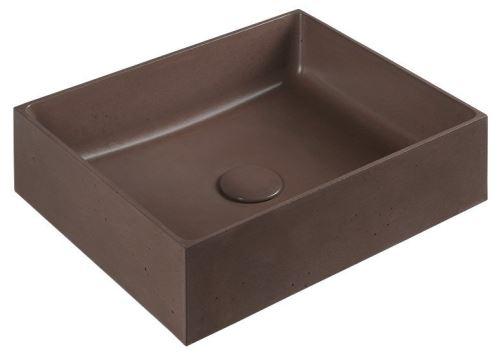 Sapho FORMIGO betonové umyvadlo, 47,5x13x36,5 cm, cihlová