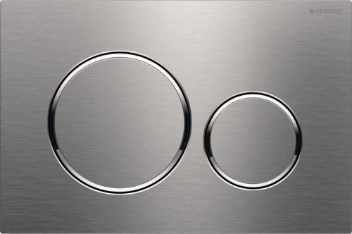 GEBERIT Ovládací tlačítko SIGMA20, pro 2 mn. splach., přišroubovatelné, kartáčovaná, povlak easy-to-clean, leštěné (115.889.SN.1)