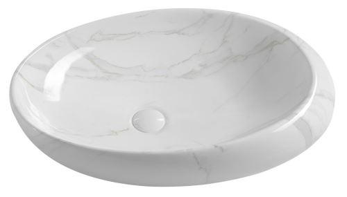 Sapho DALMA keramické umyvadlo 68x44x16,5 cm, carrara