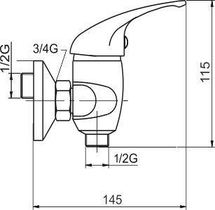 NOVASERVIS Sprchová baterie 150 mm Metalia 55 chrom (55060,0)