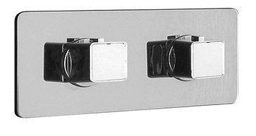 Sapho NOTOS podomítková sprchová termostatická baterie, 2 výstupy, chrom
