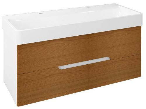 Sapho MEDIENA umyvadlová skříňka 117x50,5x48,5cm, bílá mat/dub natural
