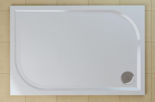 SANSWISS RONAL MARBLEMATE Sprchová vanička obdélníková 80×100 cm, bílá (WMA8010004)