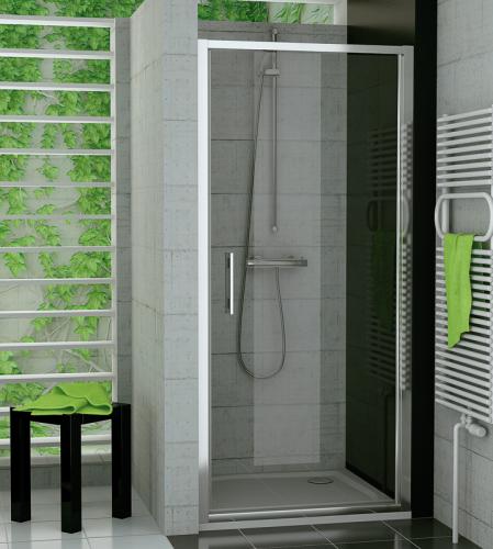 SANSWISS Jednokřídlé dveře TOP-LINE TOPP 80 cm, aluchrom/sklo (TOPP08005007)
