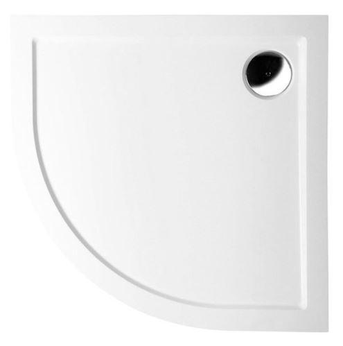 Polysan SERA sprchová vanička z litého mramoru, čtvrtkruh 100x100x4cm, R500, bílá