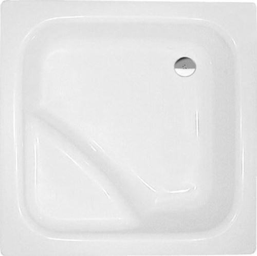Polysan VISLA hluboká sprchová vanička, čtverec 80x80x29cm, bílá