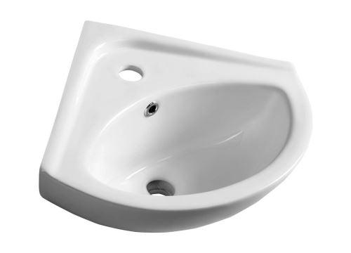 Aqualine LUIGI keramické rohové umývátko 34x34cm, bílá