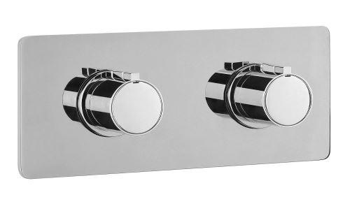 Sapho RHAPSODY podomítková sprchová termostatická baterie, 2 výstupy, chrom (RH392)