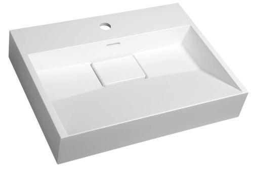 Sapho AMUR umyvadlo 60x45 cm, litý mramor, bílá