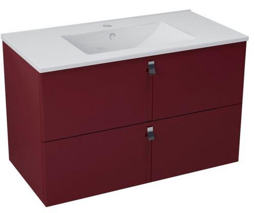 Sapho MITRA umyvadlová skříňka 89,5x55x45,2 cm, bordó