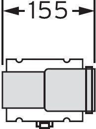VAILLANT Oddělovací prvek, 60/100 mm, PP (303915)