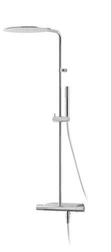 Sapho RHAPSODY sprchový sloup s termostatickou baterií, mýdlenka, chrom