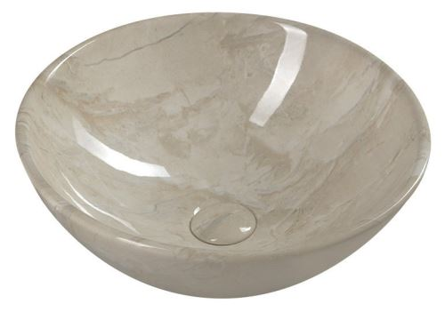 Sapho DALMA keramické umyvadlo 42x42x16,5 cm, marfil