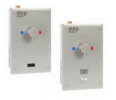 AZP BRNO Automatická sprcha na piezotlačítko, s termostatickým ventilem - 12V, 50 Hz (AUS 2P)
