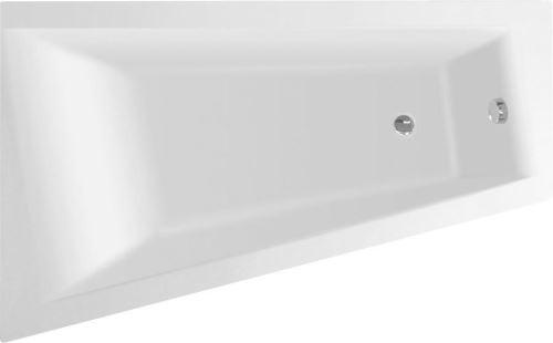 Aqualine METUJE vana 160x100x42cm bez nožiček, levá, bílá