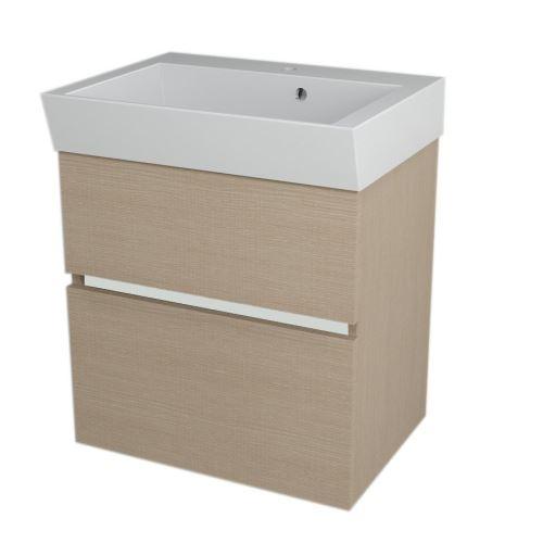 Sapho LARGO umyvadlová skříňka 59x60x41cm, dub benátský
