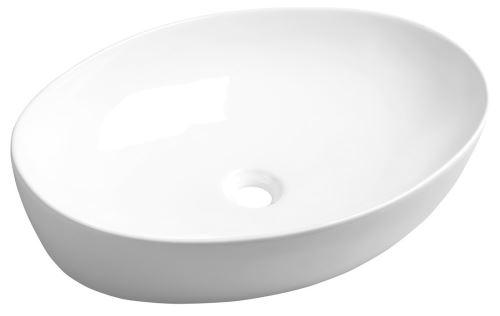 Sapho PERA keramické umyvadlo 62,5x14x42 cm, na desku