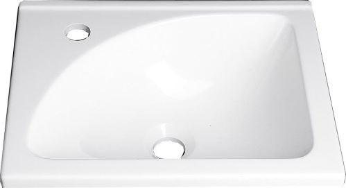 Aqualine Umyvadlo 40x32 cm, litý mramor, bílá