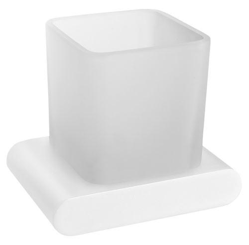 Sapho FLORI sklenka, bílá mat/sklo satin