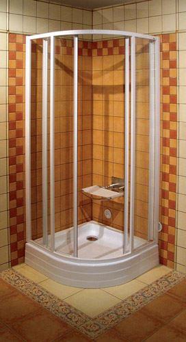 RAVAK Sprchový kout SKCP4 80 bílý rám transparent (31140100Z1)
