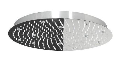 Lorema SLIM hlavová sprcha s RGB LED osvětlením, kruh 500 mm, nerez