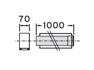 VAILLANT Prodlužovací kus odkouření 1 m, 80/125 mm (303203)