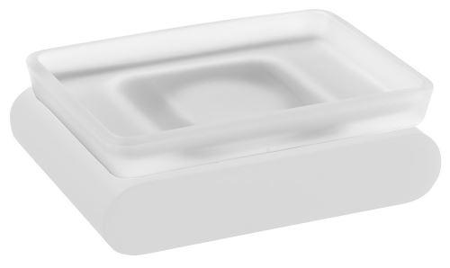 Sapho FLORI mýdlenka, bílá mat/sklo satin