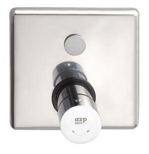 AZP BRNO Automatická nerezová sprchová baterie s termostatickým ventilem ovládaná piezotlačítkem, 12 V, 50 Hz (AUS 13.2)
