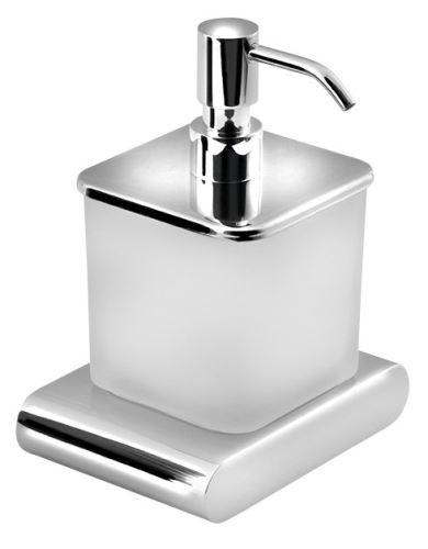 Sapho FLORI dávkovač mýdla, chrom/sklo satin