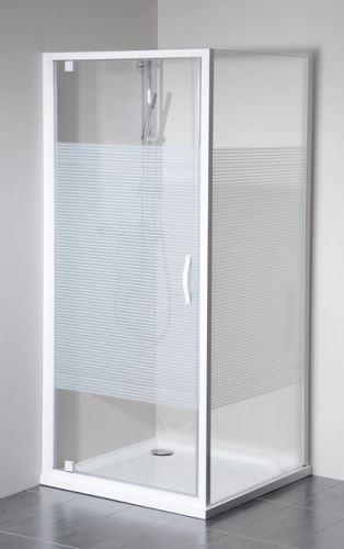 GELCO ETERNO boční stěna 800mm, sklo STRIP (GE3380)