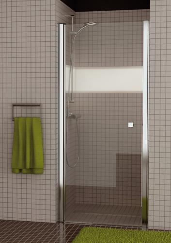 SANSWISS Jednokřídlé dveře SWING-LINE SL1 80 cm, aluchrom/sklo (SL108005007)