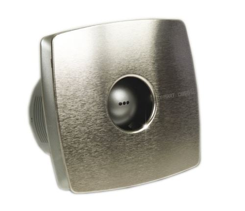 Cata X-MART 10H koupelnový ventilátor axiální s automatem, 15W, potrubí 100mm, nerez