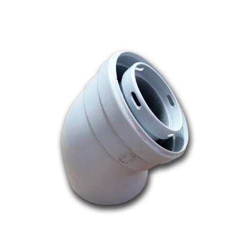 DAKON Odkouření, koaxiální koleno 45 60/100 Dagas (ZODT082)