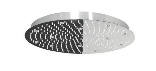 Lorema SLIM hlavová sprcha s RGB LED osvětlením, kruh 300 mm, nerez