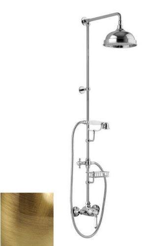 Sapho VIENNA sprch. sloup s pákovou baterií, mýdlenka, v. 1291mm, bronz