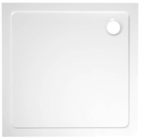 Aqualine TECMI sprchová vanička z litého mramoru, čtverec 80x80x3 cm