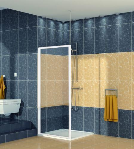 SANSWISS RONAL ECO LINE ECOF Boční stěna sprchová 90 cm, bílá/sklo (ECOF09000407)
